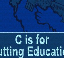 C is for Cutting Education Sticker