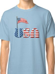 USA Patriotic Flag and Fireworks Classic T-Shirt