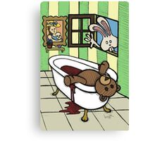 Teddy Bear And Bunny - The Discovery Canvas Print