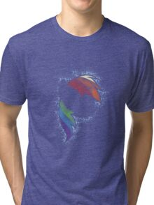 Particle Dash - Rainbow Dash (Shade) Tri-blend T-Shirt