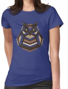 Paper Anigami Owl Womens Fitted T-Shirt