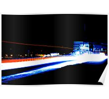 Racing Light Trail Poster