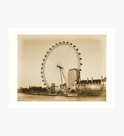 London Eye in all her Glory  Art Print
