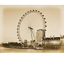 London Eye in all her Glory  Photographic Print