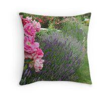 Lavender & Roses Throw Pillow