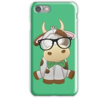 Hipster baby cow  iPhone Case/Skin