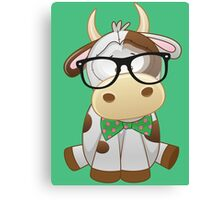 Hipster baby cow  Canvas Print