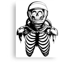 Astronaut Skeleton Canvas Print