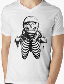 Astronaut Skeleton Mens V-Neck T-Shirt