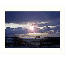 Moody Winter Sky Art Print