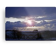 Moody Winter Sky Metal Print