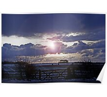 Moody Winter Sky Poster