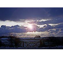 Moody Winter Sky Photographic Print
