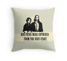 Our paths were entwined from the very start. Throw Pillow