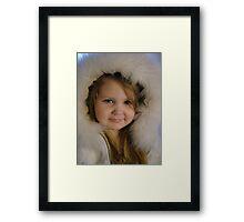 blue eyed beauty Framed Print