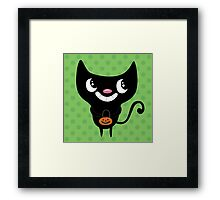Trick or Treat Kitty Framed Print