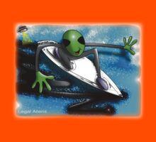 alien surfer Kids Clothes