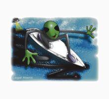 alien surfer One Piece - Short Sleeve