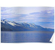 """Blue Day- Kootenay Lake, British Columbia, Canada"" Poster"