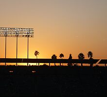 Sunset at the Dodgers by MacWack