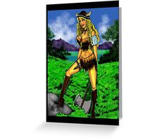Viking Girl Greeting Card
