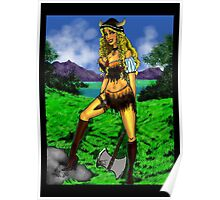 Viking Girl Poster