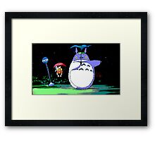 Totoro mix up! Framed Print