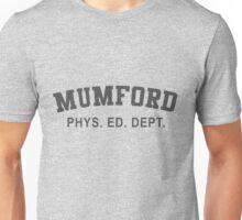 Beverly Hills Cop Mumford T-shirt Weathered Axel Foley Phys Ed Dept Detroit 80s vintage retro Unisex T-Shirt