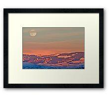 Moonrise Over Jackson Hole Framed Print