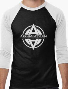 Batman - Arkham Asylum White Men's Baseball ¾ T-Shirt