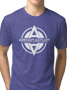 Batman - Arkham Asylum White Tri-blend T-Shirt