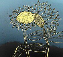 Fun Cartoon Sunflowers by pambee68
