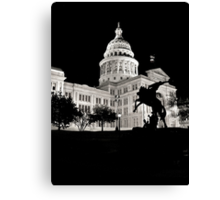 Texas State Capitol Building - Night View - Austin Canvas Print