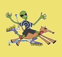alien rollerblade Kids Clothes