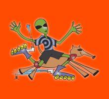 alien rollerblade Kids Clothes