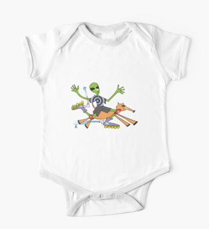 alien rollerblade One Piece - Short Sleeve