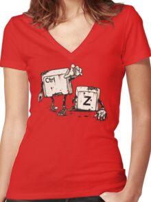 Walking Undoead Women's Fitted V-Neck T-Shirt