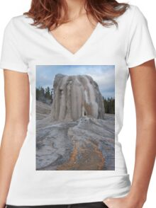 Lone Star Geyser Women's Fitted V-Neck T-Shirt