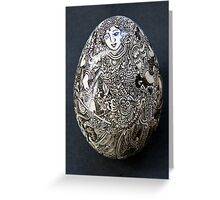 Hand-painted egg Greeting Card