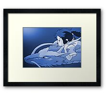 Haku as dragon Framed Print
