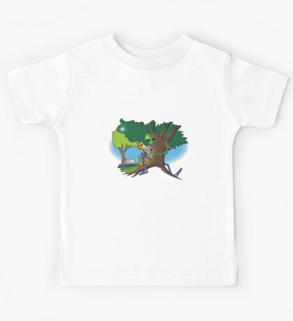 hug a tree and feel better Kids Tee