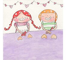 February - Year of Sisters - Watercolor Photographic Print