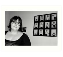 My Grandaughter Exhibits Her Work Art Print