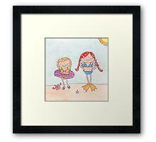 June - Year of Sisters - Watercolor Framed Print