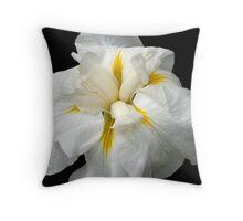 """""""White Iris"""" Throw Pillow"""