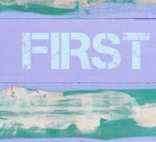 BUT FIRST BEACH  motivational quote Sticker