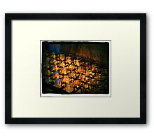 San Xavier Candles Framed Print
