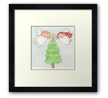 December - Year of Sisters - Watercolor Framed Print