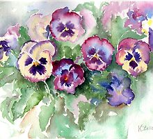 Pansies by Karin Zeller
