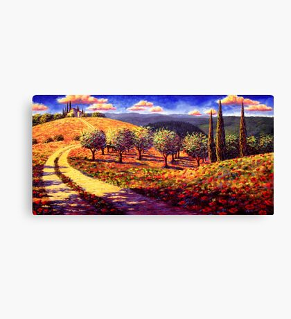 Tuscany Olive Grove Road Home Canvas Print